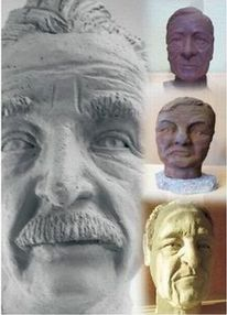 Skulptur, Keramik, Portrait, Figural