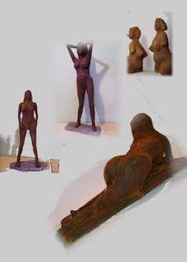 Statue, Skulptur, Akt, Figural