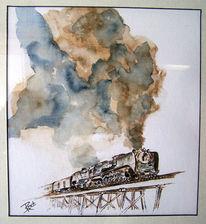 Bahnhof, Ankunft, Eisenbahn, Lok