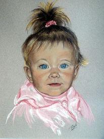 Pastellmalerei, Portrait, Zeichnung, Kind