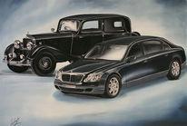 Malerei, Motor, Auto, Oldtimer