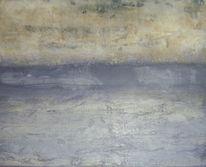 Acrylmalerei, Spachteltechnik, Lila, Beige