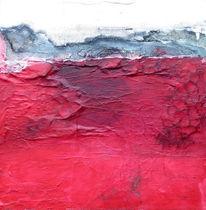 Tusche etc, Acrylmalerei, Marmormehl, Seidenpapier
