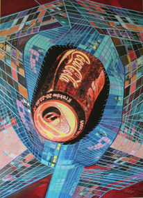 Collage, Acrylmalerei, Modern, Abtrakter