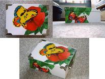 Karton, Acrylmalerei, Box, Bunt