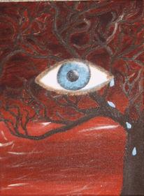 Malerei, Augen, Surreal, Baum