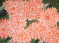 Grün, Acrylmalerei, Pink, Rose