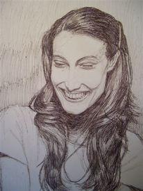 Kuli, Lachen, Zeichnung, Frau