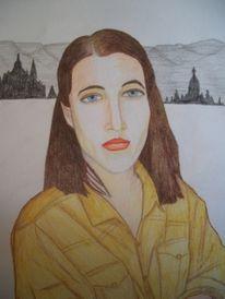 Gelb, Zeichnung, Landschaft, Kulisse