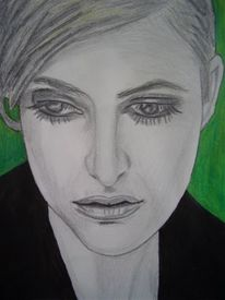 Blick, Portrait, Wimpern, Traum
