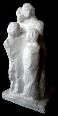 Gips, Familie, Menschen, Skulptur