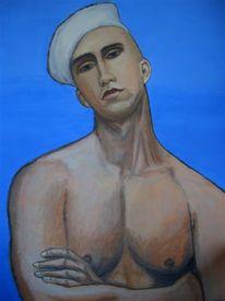 Mann, Malerei, Akt, Figural