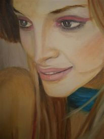 Portrait, Blick, Figural, Frau