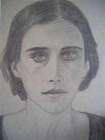 Traurig, Blick, Sehnsucht, Zeichnung