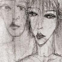 Gesicht, Ausdruck, Blick, Zeichnungen