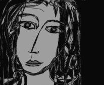 Schwarz weiß, Lyrik, Zeichnungen, Gesicht