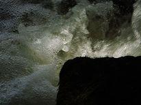 Wasserfall, Schatten, Felsen, Licht