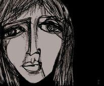 Nacht, Schmerz, Dunkel, Ausdruck