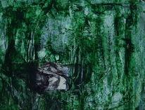 Profil, Grün, Weiß, Gesicht