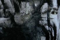 Collage, Dunkel, Schwarzweiß, Augen