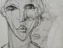 Portrait, Ausdruck, Transparenz, Zeichnungen
