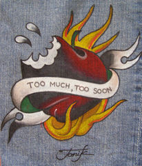 Kunsthandwerk, Textil, Tattoo, Jeans