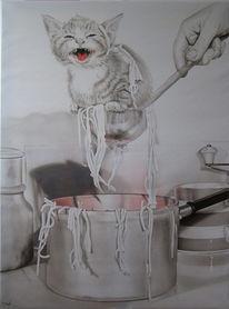Figural, Malerei, Katze