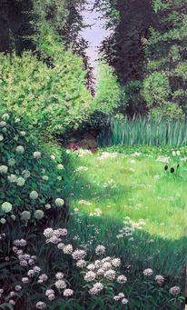 Sonne, Tulpen, Garten, Blumne