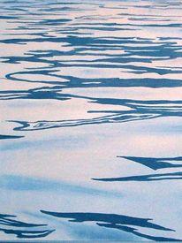 Malerei, Wasser, See, Spiegelung