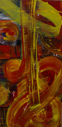 Malerei, Gitarre, Leben, Abstrakt