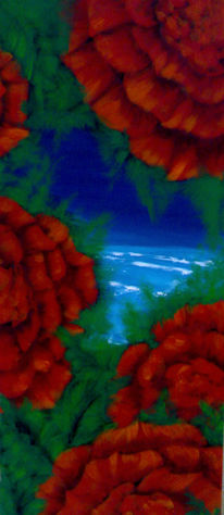 Farben, Malerei, Blumen, Strand