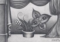Blumen, Surreal, Zeichnung, Zeichnungen