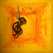 Strick, Notenschlüssel, Skulptur, Tod