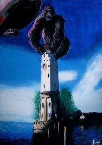 Malerei, Bodensee, Lindau, King kong