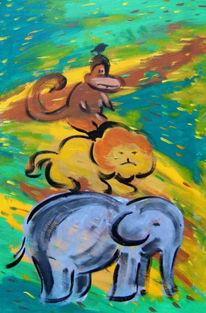 Tiere, Stadtmusikanten, Timbuktu, Malerei