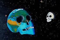 Mond, Tod, Schädel, Surreal