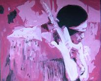 Woodstock, Hendrix, Malerei, Pink