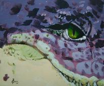Bissig, Figural, Aligator, Krokodil