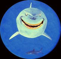 Hai, Bullauge, Lächeln, Wasser