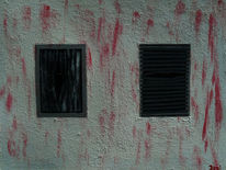 Rot schwarz, Comic, Schlachthaus, Weiß