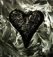Hölle, Acrylmalerei, Herz, Schwarz