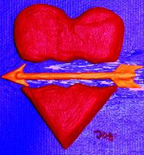 Liebe, Acrylmalerei, Herz, Schmerz