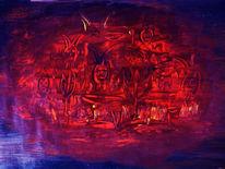 Acrylmalerei, Tod, Malerei, Fegefeuer
