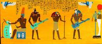 Malerei, Figural, Isis, Mikrofon