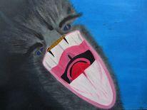 Fantasie, Malerei, Acrylmalerei, Blau
