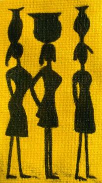 Frau, Stamm, Wüste, Afrika
