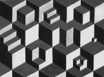 Treppe, Aquarellmalerei, Skizze, Quadrat