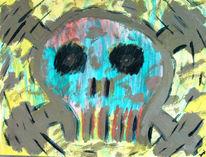 Abstrakt, Motor, Malerei, Technik