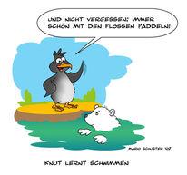 Pinguin, Knut, Eisbär, Zeichnungen