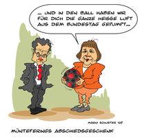 Merkel, Bundestag, Müntefering, Zeichnungen